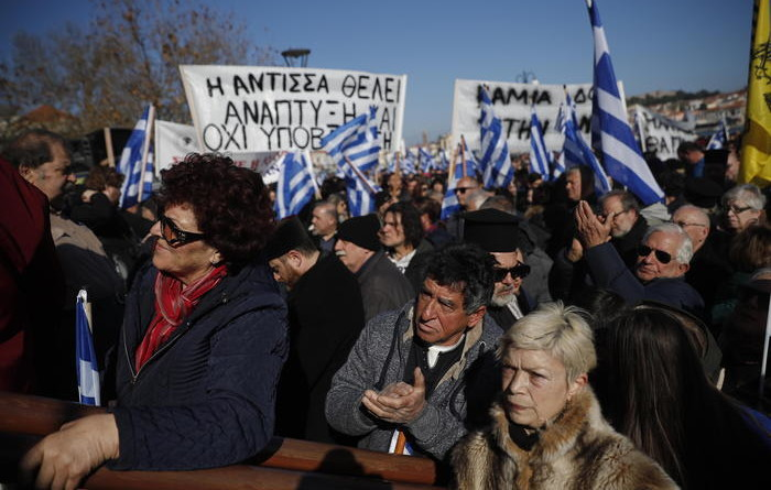 Migranti:protesta residenti isole greche