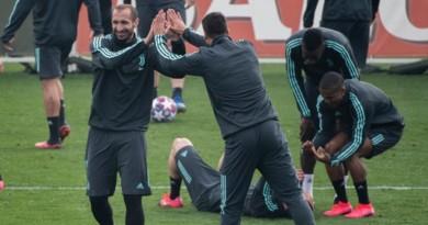 Juve-Inter, Chiellini si allena con il gruppo e si candida come titolare