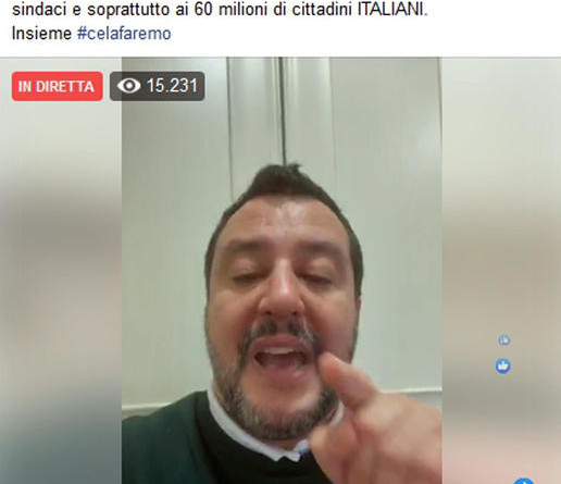 Coronavirus: Salvini, dl va cambiato