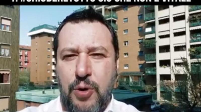 """Coronavirus, Salvini a Mattarella: """"Chiudere tutto. Mi rivolgo a lei perché nessuno ci ascolta"""""""