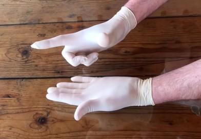 Indossare, rimuovere e smaltire i guanti monouso: la lezione dei sub di Parma